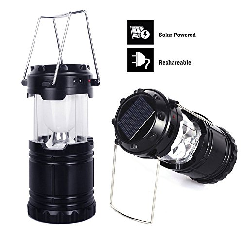 Portable LED Camping Lantern 6 LED Emergency Lantern Flashlights USB Solar Rechargeable Tent Light Lantern Outdoor Camping Hiking Lamp fpr Backpacking, Outdoor Activities, Camping, Hiking