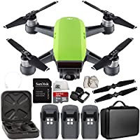 DJI Spark Portable Mini Drone Quadcopter Ultimate Portable Bag Shoulder Travel Case Bundle (Meadow Green)
