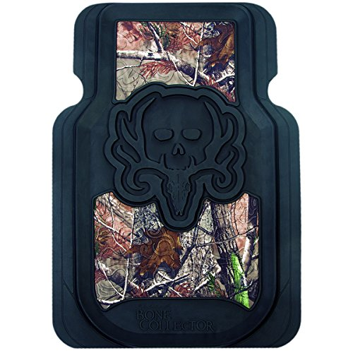 Bone Collector Floor Mats (Realtree AP Camo, Durable Molded PVC, Trim-to-Fit, Set of 2) (Cowboy Belt Frame)