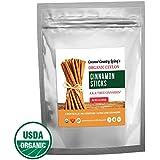 Organic True Ceylon Cinnamon Sticks 8 oz Fair Trade Certified, Freshly Harvested & Packed in Sri Lanka w/E-BOOK Recipes & Crafts