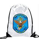 Large Drawstring Bag with US Navy 7th Fleet - Long lasting vibrant image