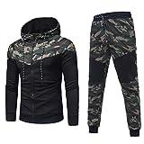 Sports Suit,Caopixx Men's Autumn Winter Camouflage Sweatshirt Top Pants Sets Tracksuit (Asia Size L2=US Size XL, Camouflage(Tracksuit))