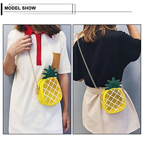 Creative Shoulder Leather Cross Bag Kukoo Body Girl Single Pineapple Yellow Shaped Bag Bag Fashion Transparent RqwBzT