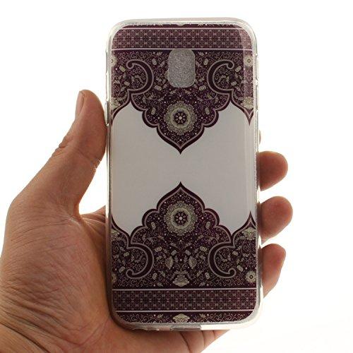Galaxy Souple J3 Protection Téléphone Scratch Samsung En Résistant Slim Hozor Cas Peint De Couverture Antichoc Cas Arrière De TPU Silicone 2017 J330 Motif Transparent Bord Fit Lace gw5EEzqx