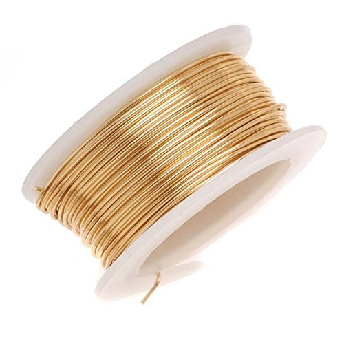Beadalon AWD-18-NTB-04YD Artistic Wire 18-Gauge Non-Tarnish Brass Wire, 4-Yards ()