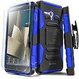 Alcatel OneTouch Fierce XL Case, Evocel [Generation Series] Belt Clip Holster, Kickstand, HD Screen Protector, Dual Layer for Alcatel OneTouch Fierce XL 5054 (2015 Release), Blue