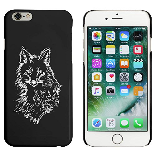 Noir 'Esquisse du Visage de Renard' étui / housse pour iPhone 6 & 6s (MC00023457)