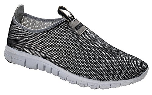 Breathable Running Sport Tennis Shoes,Beach Aqua, Outdoor,Athletic,Rainy,Skiing,Yoga,Exercise,Slip on Water,Car Shoes Women GreyBlack 6.5 B(M)US/EU37/