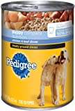 Pedigree Meaty Ground Dinner with Chicken and Beef Food for Puppies, 13.2-Ounce Cans (Pack of 24), My Pet Supplies