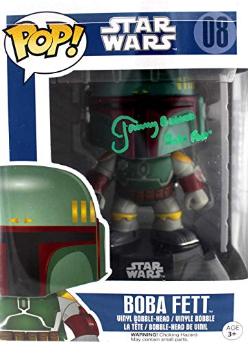 - Jeremy Bulloch Autographed/Signed Funko Pop Star Wars Boba Fett #08 Vinyl Bobble-Head Figure (Green Ink) With