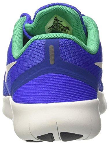 Nike Free RN GS, Sneakers Unisex Niños Azul (Paramount Blue/pure Platinum/stadium Green)