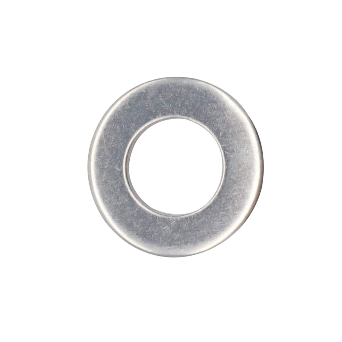 18-8 100pcs Stainless Steel M6 304 M6 Stainless Flat Finish Washer 0.47 OD