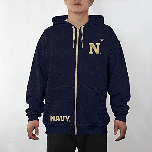 Navy Embroidered Zip - 2
