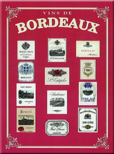 FRENCH VINTAGE METAL SIGN 20X15cm BORDEAUX WINE France - M137