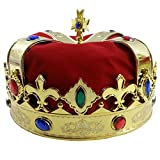 #2: Funny Party Hats Royal Jeweled King's Crown - Costume Accessory