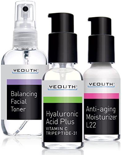 Best Anti Aging 3 Pack Skin Care System by YEOUTH, Professio