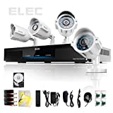 ELEC® New 4 CH Channel CCTV HDMI 960H DVR 4 Outdoor Home Surveillance Security 600tvl Night Vision Camera System 500GB Hard Drive Internet and 3g Realtime Recorder