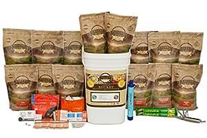 Valley Food Storage Emergency Preparedness Grab and Go Bucket Survival Kit (1 Week Supply for 4-People)