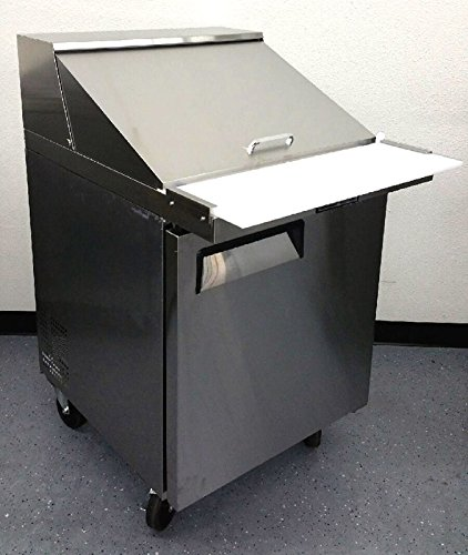 28'' 1 Door Commercial Refrigerated Mega Top Salad Sandwich Prep Station Table Cooler Fridge, MSF8305, 12 Pans INCLUDED, 8 Cubic Feet, Cutting Board, for Restaurant by MSF8305