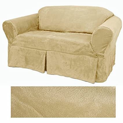 Ultra Suede Cream Furniture Slipcover Sofa 639