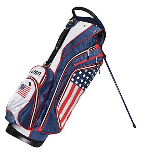New Hot-Z Golf 2018 USA American Flag Golf Stand Bag
