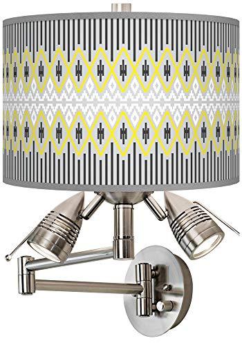 Desert Geometric Giclee Swing Arm Wall Lamp - Giclee Gallery ()