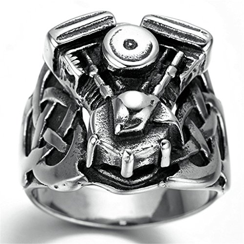 Stainless Steel Ring for Men, Demon Eyes Ring Gothic Black Band Size 10 - Near Vs Outlet Me
