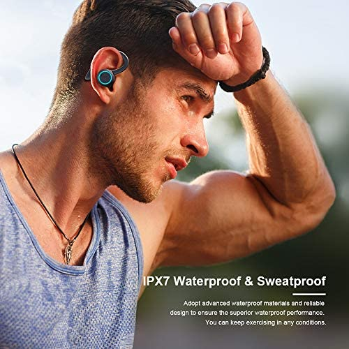 True Wireless Headphones, APEKX Update 5.0 Auto Pairing Touch Control HiFi Stereo Sound Earbuds in-Ear Earphones Binaural Call Headset with Built-in Mic and Charging Case for Sports Running Black