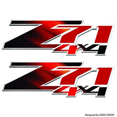 GOLD HOOK 2 - Z71 Logo Decal | Bedside Bed Panel | Chevy Silverado | GMC Sierra | Truck Sticker ()