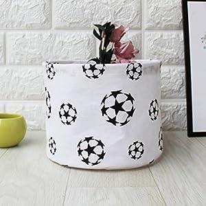 Waterproof Canvas Storage Basket Container Bedside Wardrobe Closet Storage Bag Pocket Box (H) 10