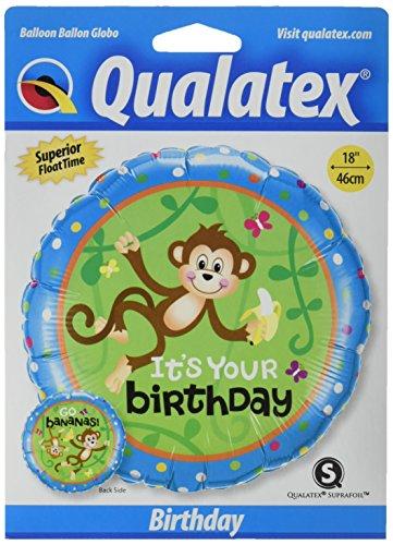 PIONEER BALLOON COMPANY B'day Monkeys Go Bananas Pack, 18