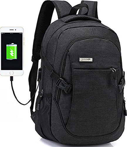 Laptop backpack for men back pack College computer packs,with USB Charging Port Lightweight Travel and Business Backpack