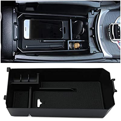 Console Car Central Armrest Storage Box Container Tray Organizer Accessories Fit for Mercedes Benz C GLC Class W205 2015+: Automotive