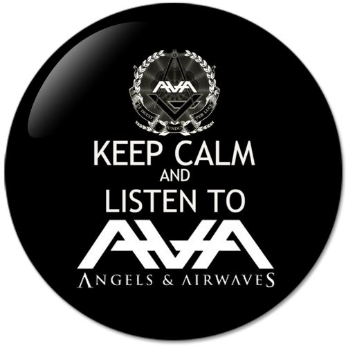 KEEP CALM AND Listen To AVA Angels & Airwaves (58mm) Bottle Opener Round Button Badges With Refrigerator Magnet, NEW