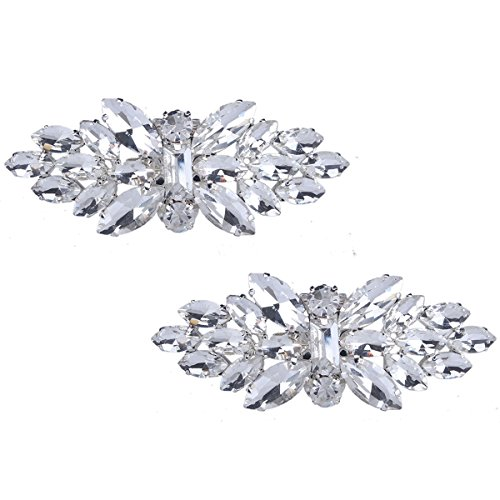 Horse eye Rhinestone Shoe buckle,full crystal shoe clips Accessories Fashion Bridal wedding shoes decoration (Rhinestone Shoe Clips)