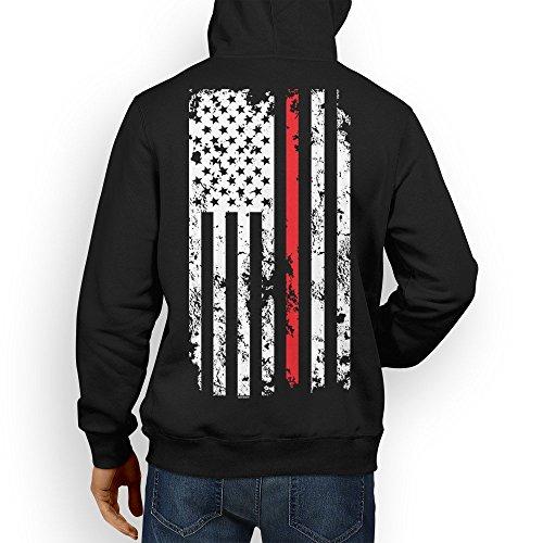 Mens Thin Line Hoodie Sweatshirt