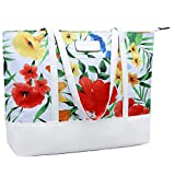 15.6 Laptop Tote Bag,15 Inch Large Business Work Bag,14 Inch Durable Nylon Bag for School,Travel,White Morning Glory