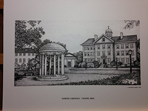 North Carolina Chapel Hill Old Well 11x14 pen and ink print by Campus Scenes