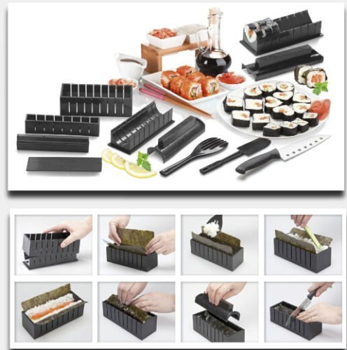 New Sushi Maker Kit Rice Roll Mold Kitchen DIY Easy Chef Set Mould Roller Cutter
