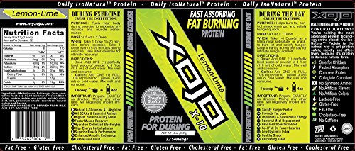 XOJO X-10 Protein Powder - Extends Endurance and Speeds Recovery By up to 70% (Lemon-lime)