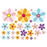 Ants-Store - Colorful Flowers Wall Stickers Removable Fridge Stickers Cabinet Home Decoration DIY Poster Stickers E5M1