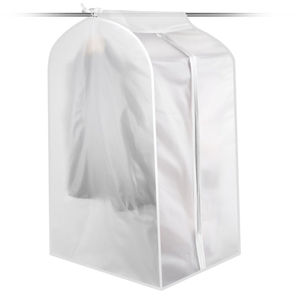 iPstyle Clear Garment Bag, Heavy Duty Dust-proof Hanging Garment Cover Clothes Bag for Suit for Suit Dance Clothes C (Transparent)
