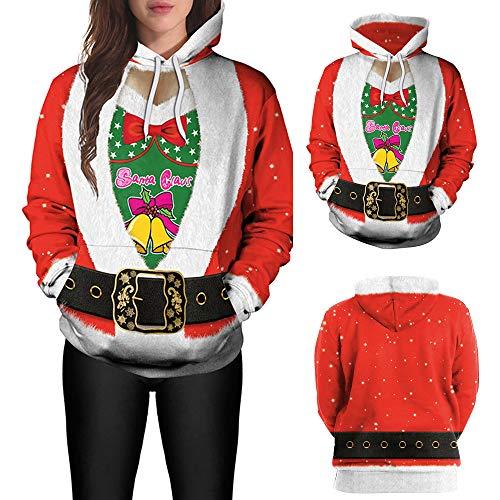 OPAKY Lovers Christmas Santa Claus Print Mangas largas Gorras Tops Sudaderas: Amazon.es: Ropa y accesorios