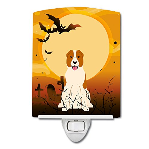 Caroline's Treasures Halloween Central Asian Shepherd Dog Ceramic Night Light 6x4 Multicolor ()