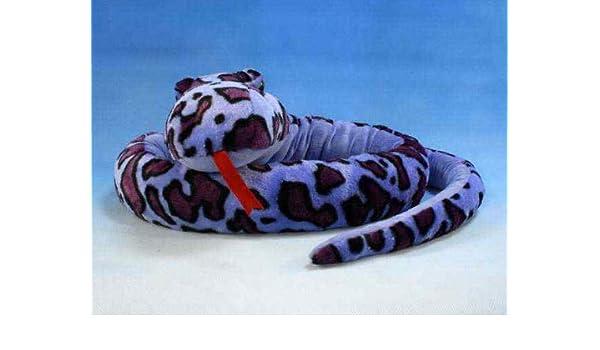 Gigante serpiente Python anakonda Boa serpiente azul de lila ...