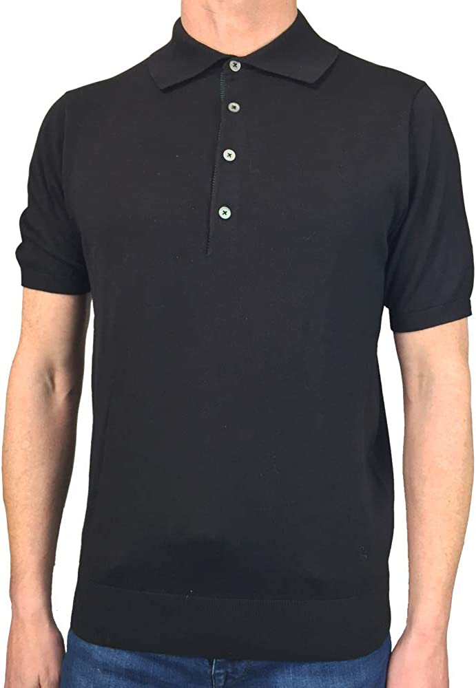 superior quality buying now on sale Paul Smith Mens Short Sleeved Fitted Knit Polo Shirt in Black at ...