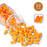 Foam Ear Plugs 50 Pairs Ear Plugs for Sleeping NNR 35dB Super Soft Noise Cancelling Ear Plugs for Shooting Hearing Protection Hunting Season Sleeping Working Travel Loud Events
