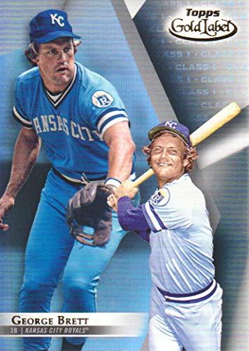 (2018 Topps Gold Label Baseball Class 1#50 George Brett Kansas City)