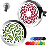 2PCS RoyAroma 30mm Car Aromatherapy Essential Oil Diffuser Stainless Steel Locket Air Freshener