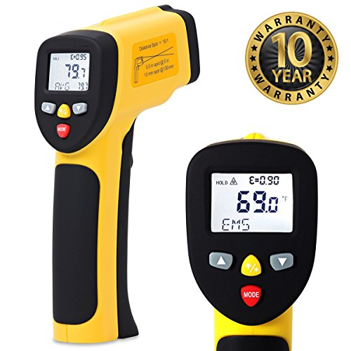 Temperature Gun by ennoLogic - Accurate High Temperature Dual Laser Infrared Thermometer -58°F to 1922°F - Digital Surface IR Thermometer eT1050D by ennoLogic (Image #3)